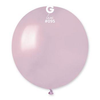 10 Ballons métallisés lilas Ø48cm