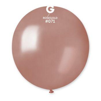 10 Ballons métallisés gold rose Ø48cm