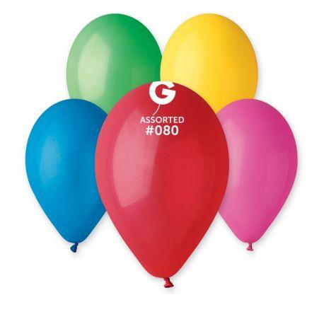 Assortiment 100 Ballons taille standard en latex de couleur différentes idéal pour vos décoration de fête et d'anniversaire et d'arches...