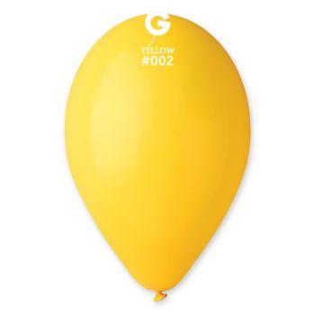 12 Ballons jaune Ø30cm