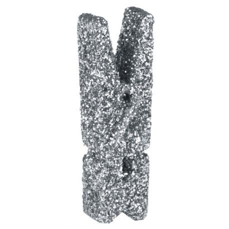 12 Mini pinces pailletéargent pour agrémenter une décoration de tableDimensions : 2.5 cm