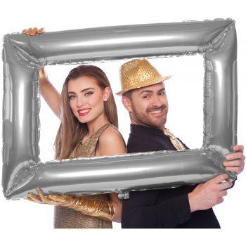 Ballon cadre photo géant argent