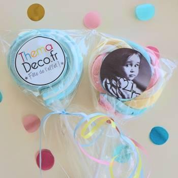 8 Sucettes marshmallow personnalisées
