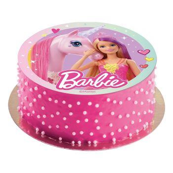 Disque azyme Barbie licorne 20cm