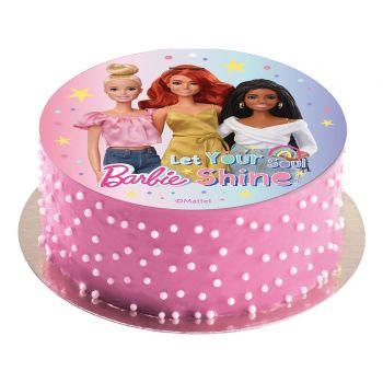 Disque azyme Barbie 20cm sans sucre
