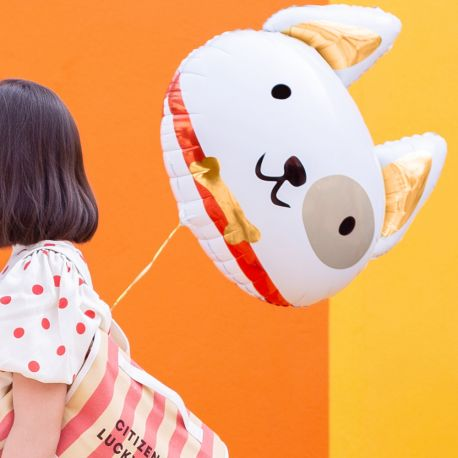 Ballon en aluminium en forme de chien pour faire une décoration d'anniversaire ultra tendance!Dimensions : 50cm x 45cm