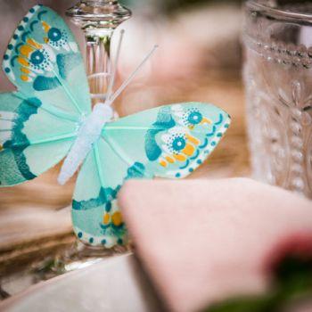 Assortiment 10 papillons dégradé mint