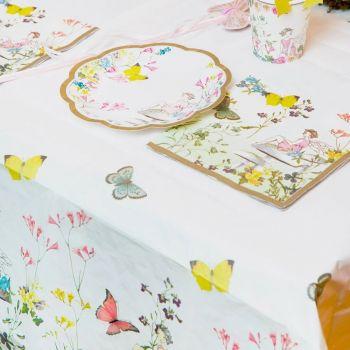 Nappe en papier jardin de fée