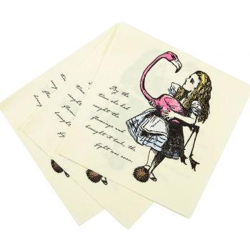 20 serviettes Alice aux pays des merveilles