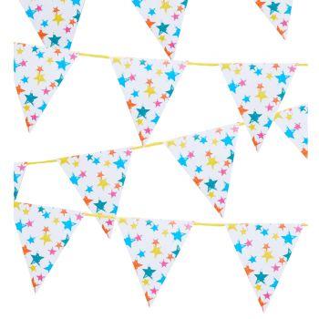Guirlande de fanions Ecolo rainbow star