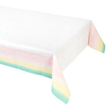Nappe en papier pastel assortis