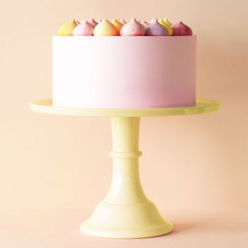 Presentoir à gâteau jaune grand modèle