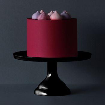 Présentoir à gâteau noir petit modèle