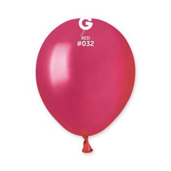50 Ballons métallisés rouge berry Ø13cm