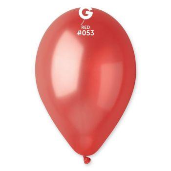 10 Ballons métallisés rouge Ø30cm