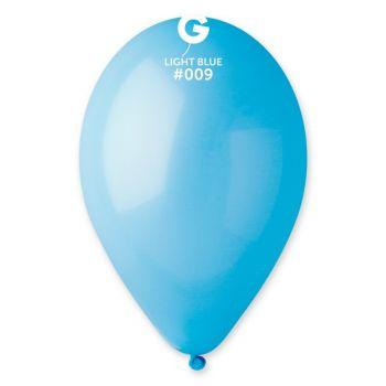 50 Ballons pastel bleu lagon Ø30cm