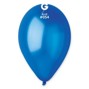 10 Ballons métallisés bleu roi Ø30cm