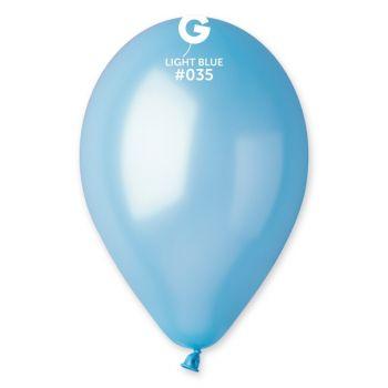 10 Ballons métallisés bleu lagon Ø30cm