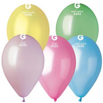 10 Ballons métallisés assortis Ø30cm