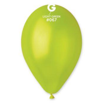 10 Ballons métallisés vert anis Ø30cm