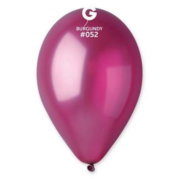 10 Ballons métallisés bordeaux Ø30cm