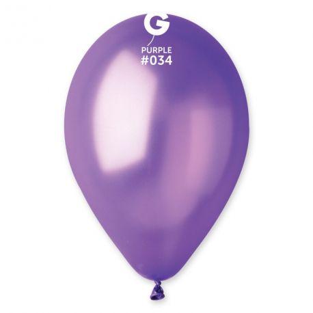 10 Ballons en latex de couleur métallisésviolet Ø 30 cm Circonférence: 85 cm