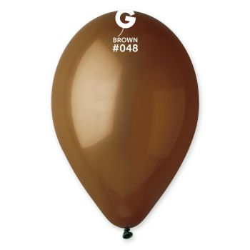 10 Ballons Marron Ø30cm