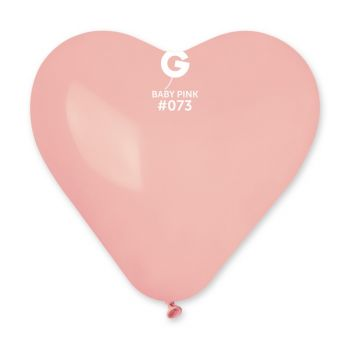 3 Ballons géant coeur rose bébé 44cm