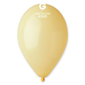 50 Ballons jaune pastel Ø30cm