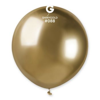 3 Ballons Shiny métallisés or brillant Ø48cm