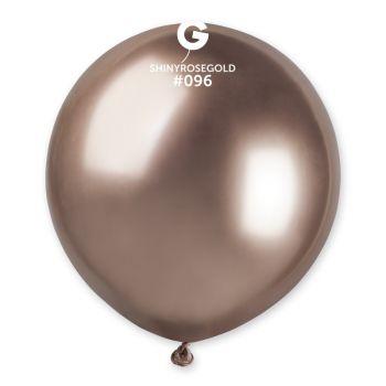3 Ballons shiny métallisés rose gold Ø48cm