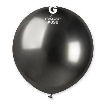 3 Ballons shiny métallisés anthracite Ø48cm