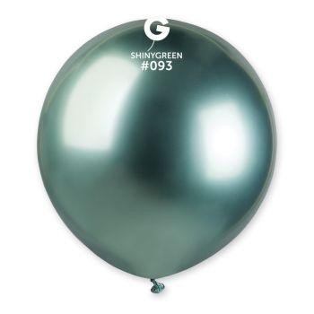 3 Ballons shiny métallisés vert Ø48cm