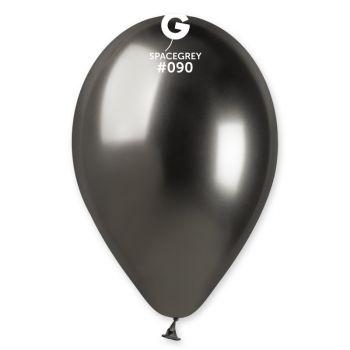 25 Ballons shinny métallisés noir Ø33cm