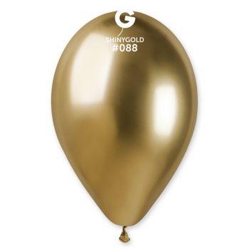 5 Ballons Shiny métallisés or brillant Ø30cm