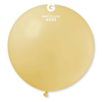 1 Ballon géant jaune pastel Ø80cm