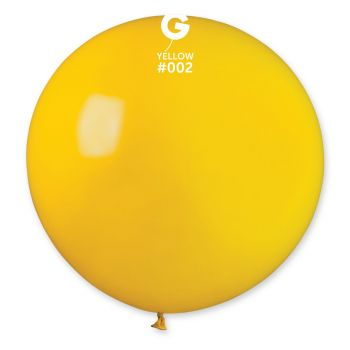 1 Ballon géant jaune Ø80cm