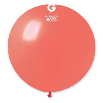 1 Ballon géant corail Ø80cm