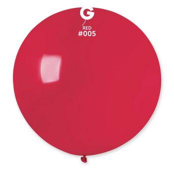 1 Ballon géant rouge Ø80cm