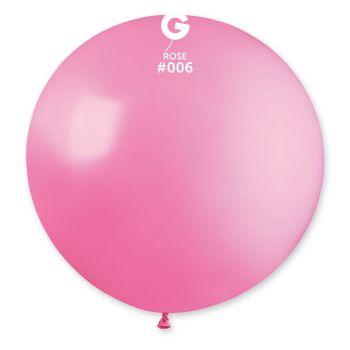 1 Ballon géant rose Ø80cm
