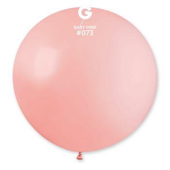 1 Ballon géant rose bébé Ø80cm