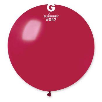1 Ballon géant bordeaux Ø80cm