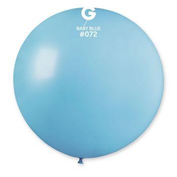 1 Ballon géant bleu bébé Ø80cm