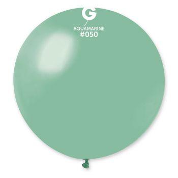 1 Ballon géant vert d'eau Ø80cm