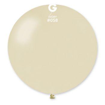 1 Ballon géant ivoire métallisé Ø80cm
