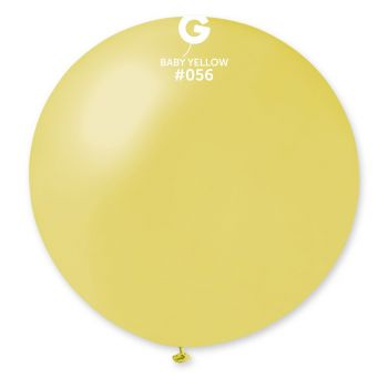 1 Ballon géant jaune pastel métallisé Ø80cm