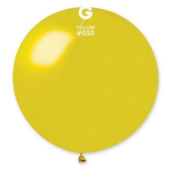 1 Ballon géant jaune métallisé Ø80cm