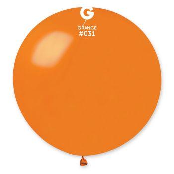 1 Ballon géant orange métallisé Ø80cm