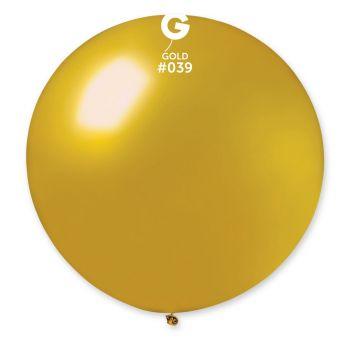 1 Ballon géant or métallisé Ø80cm