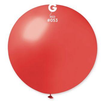1 Ballon géant rouge métallisé Ø80cm
